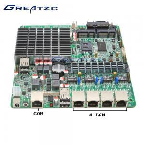 China Fanless INTEL Bay Trail Celeron J1800 Quad LAN Motherboard With WIFI wholesale