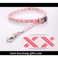 China Wholesale High Quality Polyester Custom Printed logo Lanyard wiith metal hook wholesale