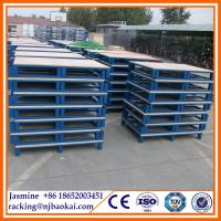 China warehouse 4 entry way heavy duty metal pallet wholesale