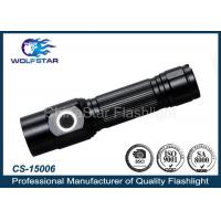China Black CREE Powerful Rechargeable Led Flashlights 170 lm 31 x 123mm wholesale