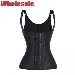 China 3 Rows Hook Latex Workout Waist Trainer Vest NANBIN Latex Sweat Vest wholesale