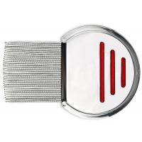 9.8CM Bule Red Dog Brush Comb Stainless Steel Screw Needle 3.7 * 2.7 Inch