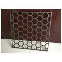 China Wall Decoration Perforated Aluminum Panels with Regular Hexagon Holes wholesale