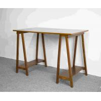 Buy cheap Hand Finished Soild Wood Home Office Desk Workstation With Desktop panel from wholesalers