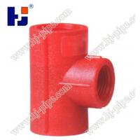 China Plastic pipe fittings PPR reducing tee wholesale