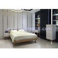 China Contemporary Low Height Wood Frame Bed With Wooden Slat European Style wholesale