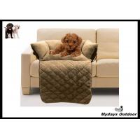 foldable pet cushion durable dog sofa bed light brown