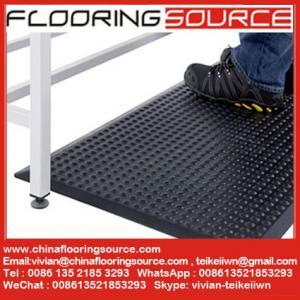 Quality Industrial Rubber Floor Mat Anti-Fatigue Matting Bubble Design Nitrile Rubber for sale