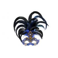 "China Colombina Mask with Metal feather Venetian Carnival      12""3088 wholesale"