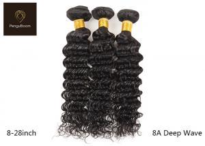 China Single Drawn 8a Natural Peruvian Deep Wave Hair Bundles 8inch on sale