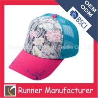 China Printing Flower Baseball Cap Mesh Cap wholesale