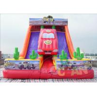 China 0.55mm PVC Inflatable Car Slide Inflatable Double Slide For Kids And Adult wholesale
