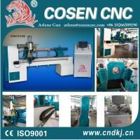 China CNC wood lathe machine with casted bed for baby bed, stair column, wood sports bats,wood crafts wholesale