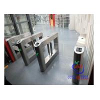 China Waist Height Swing Gate Turnstile 90CM Wide Comfortable Free Pass Library Tap Cards Access wholesale