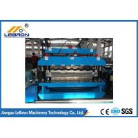 China Blue Color Double Layer Roll Forming Machine , Metal Sheet Roof Roll Forming Machine on sale