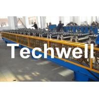 China 7.5KW High Speed Double Deck / Layer Roll Forming Machine With Automatic Hydraulic Cutting wholesale