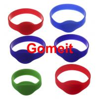 China 13.56 Mhz Rfid Silicone Wristband Waterproof , Programmable Smart Access Control Wristbands wholesale