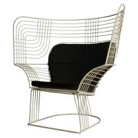 China Outdoor Showroom Link Easy Chair Furniture With Varnished Steel Tom Dixon Design wholesale