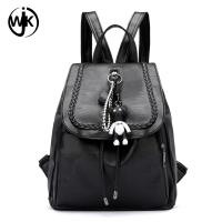 China Droppshipping Fashion Style Custom waterproof black backpack Guangzhou bag factory faux leather backpack wholesale