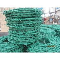 China PVC Coated Fence Barbed Wire Single Strand Barbed Wire1.5 - 3 Barb Length wholesale