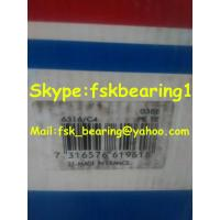 China 6316 / C4  SKF Deep Groove Ball Bearing Open  Ball Bearings Single Row wholesale