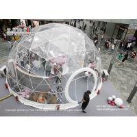 China Clear Geodesic Dome Tents With Clear Cover For Outdoor Parties And Weddings wholesale