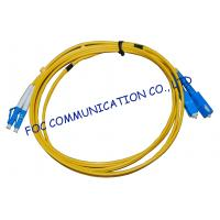 China FTTH Fiber Optic Patch Cord Low Insertion Loss LC - SC Duplex wholesale