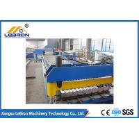 China Blue Color Corrugated Sheet Roll Forming Machine / Corrugated Roof Roll Forming Machine wholesale