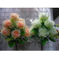 China Artificial Flower, 9H Rose Bush, Wedding Flowers. wholesale