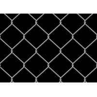 China 6 Foot Chain Link Fence 9 Gauge Square Unit Used For Garden Anti Rust / Corrosion wholesale
