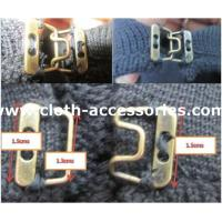 China Decoration Sewing Hooks And Eyes / Polished Metal Hook And Eye For Pants on sale