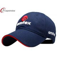 China Navy  Adult Cotton Embroidered Baseball Caps with 3D Letter Embroidery wholesale