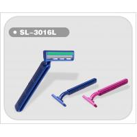 Buy cheap Plastic Handle Twin Blade Disposable Razor 5 pcs/bag Hot Sell (SL-3016L) from wholesalers