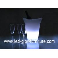 China 16 Colors Changing Novelty LED Ice Bucket / cooler , Waterproof led wine bucket wholesale