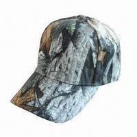 China Fashionable Camouflage Cap with Self-fabric Hook-and-loop Strap on sale