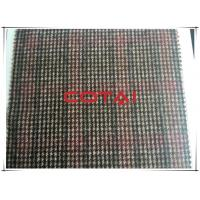 China Lightweight Flannel Plaid Fabric 30% Wool With Houndstooth Small Tartan wholesale