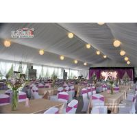 China Instant Movable Metal Frame PVC Structure Luxury Wedding Tents with AC and Furniture wholesale