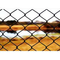 China 6 FT X 10 FT Green PVC Chain Wire Fencing / Chain Length Fence For Protecting wholesale