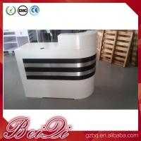 China white reception counter supermarket modern checkout counter reception desk beauty salon wholesale