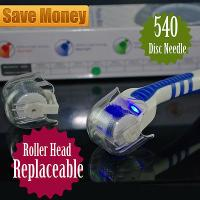 China Head Replaceable Derma Roller  LED Red Light Acne Scars Wrinkles Removal wholesale