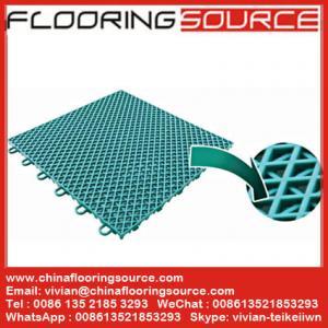 China PP Interlock Tile Sports Flooring basketball court flooring table tennis court flooring wholesale