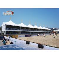 China Water Proof 20 Meter Width  White Color Sport Event Tents With Two Storey For Outdoor Horse Competition wholesale