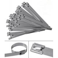 China 304 316 Grade Self Locking Stainless Steel Cable Ties With RoHS UL Certification on sale