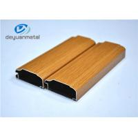 China Wood Grain Aluminum Extrusion Profile For Decoration Alloy 6063-T5 / T6 wholesale