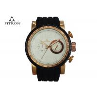 China Silicone Strap Male Multifunction Wrist Watch Alloy Watch Case 5 Needles 2 Rounds wholesale