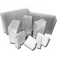 China Silvery Anodized Aluminum Heat sink Extrusion Profiles , Aluminum Radiator wholesale