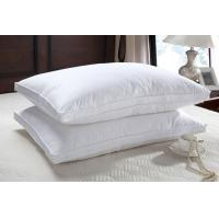 China 50% duck down feather  natual good filling white pillow insert with piping wholesale