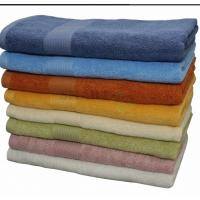 China Eco-Friendly Cotton Bamboo Bath Towel With Embroidery In Solid Dyed wholesale