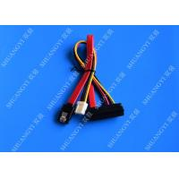China 22 Pin SATA Cable with 3 Pin Power and  Latching SATA Connector wholesale