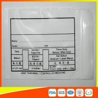 China Custom Printed Plastic Medical Ziplock Bags Reclosable Waterproof Non Poisonous wholesale